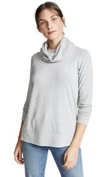 Cupcakes And Cashmere Luca Cowl Neck Sweatshirt Light Heather Grey