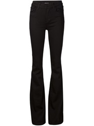 J Brand Flared Slim Fit Trousers Black