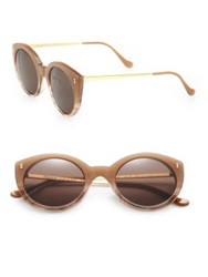 Illesteva Palm Beach 49Mm Round Sunglasses Tan