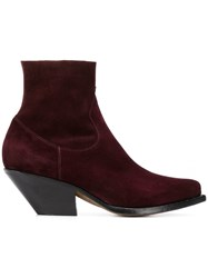 Buttero Ankle Boots Purple