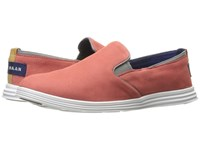 Cole Haan Ella Grand 2 Gore Slip On New Mineral Red Nubuck Ironstone Optic White Women's Slip On Shoes