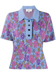 Ymc Floral Knitted Polo Shirt 60