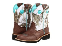 Ariat Fatbaby Cowgirl Brown Crinkle Snowflake Cowboy Boots