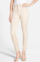 Petite Women's Nydj 'Alina' Colored Stretch Skinny Jeans Tan Memoir