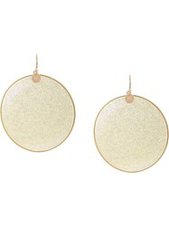 Missoni Glitter Disc Earrings Yellow