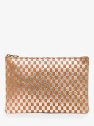 Madewell Metallic Pouch Bag Pale Gold