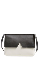 Vince 'Signature Colorblock Collection Baby' Crossbody Bag Pearl Black