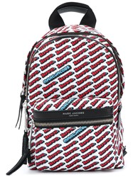 Marc Jacobs Love Print Backpack White
