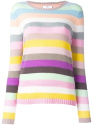 Allude Striped Sweater Pink Purple