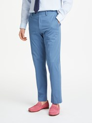 John Lewis Woven In Italy Tailored Trousers Powder Blue