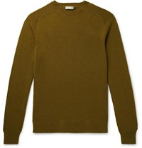 Margaret Howell Cotton And Cashmere Blend Sweater Green