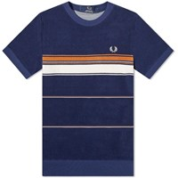 Fred Perry Reissues Striped Towelling Tee Blue