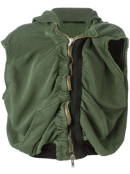 Haider Ackermann Draped Zip Vest Green