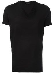 Dsquared2 Underwear Basic V Neck T Shirt Black
