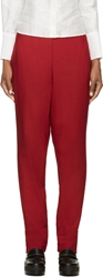 Cnc Costume National Red Wool Trousers