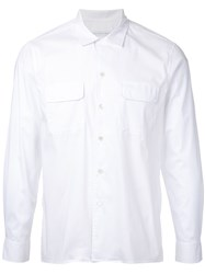 Estnation Patch Pocket Shirt Men Cotton Nylon Polyurethane S White