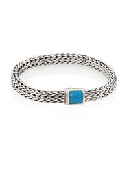 John Hardy Classic Chain Medium Turquoise And Sterling Silver Bracelet Silver Turquoise