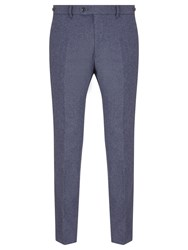 John Lewis And Co. Talbot Milled Crossweave Tailored Suit Trousers Blue