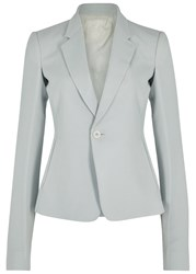 Rick Owens Grey Wool Blend Blazer Off White