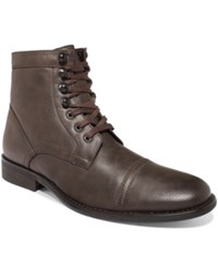 Unlisted A Kenneth Cole Production Blog Lights Cap Toe Boots Men's Shoes Brown