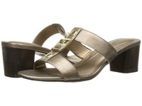 Lifestride Rayana Champagne Snake Patent Women's Sandals Gold