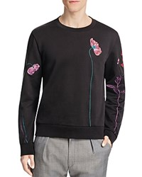 Paul Smith Floral Embroidery Sweater Medium Blue