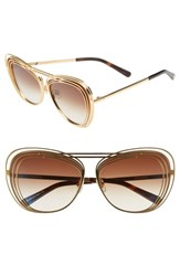 Wildfox Couture Hermitage 61Mm Cat Eye Sunglasses Gold Brown Gradient