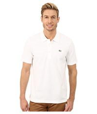Lacoste Sport Golf Short Sleeve Super Light Stretch Solid Polo White Men's Short Sleeve Pullover