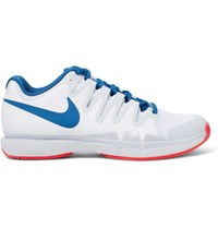 Nike Tennis Zoom Vapor 9.5 Tour Rubber Trimmed Mesh Sneakers White