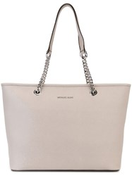 Michael Michael Kors 'Jet Set Travel' Chain Tote Grey
