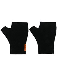 Barena Fingerless Gloves Black