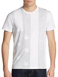 Saks Fifth Avenue Red American Flag Cotton Graphic Tee
