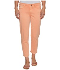 Liverpool Riley Relaxed Crop In Stretch Peached Twill In Peach Pink Peach Pink Women's Jeans Red