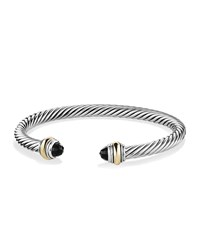 Cable Classics Bracelet With Onyx And Gold David Yurman Silver