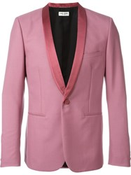 Saint Laurent Tuxedo Blazer Pink And Purple