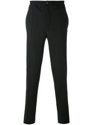 Lanvin Tailored Trousers Men Cotton Polyamide Spandex Elastane Wool 48 Black