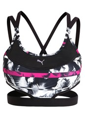 Puma Future Sports Bra Black Ultra Magenta White Feather