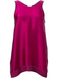Forte Forte Satin A Line Tank Top Pink And Purple