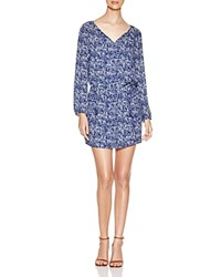Daniel Rainn Abstract Print Tunic Dress Indigo