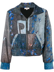 Natasha Zinko Abstract Print Jogging Jacket Grey