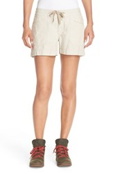 The North Face Women's 'Wander Free' Shorts Dune Beige Stripe