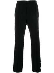 Class Roberto Cavalli Star Studded Tailored Trousers Cotton Viscose Black