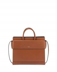 Givenchy Horizon Small Leather Satchel Bag Black Caramel