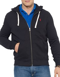 Polo Big And Tall Full Zip Fleece Hoodie Polo Black
