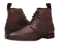 Gordon Rush Kennedy Dark Brown Leather Men's Lace Up Boots