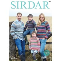 Sirdar Aura Chunky Jumpers Knitting Pattern 7884