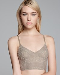 Free People Bra Lace Cropped Bustier Taupe