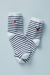 Richer Poorer Sailor Striped Crew Socks Sky