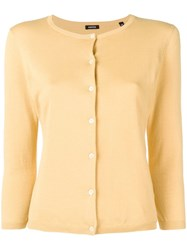 Aspesi Plain Cardigan Yellow