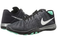 Nike Free Tr 6 Metallic Dark Grey Metallic Silver Black Green Glow Women's Cross Training Shoes